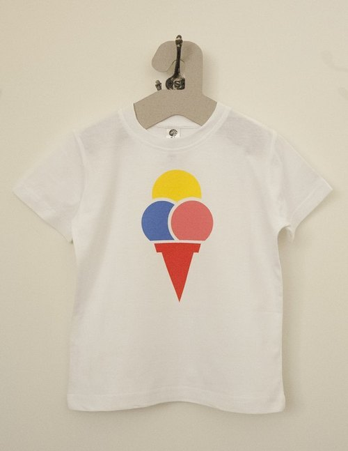 Organic children Tee- three balls of ice cream
