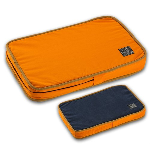"""Lifeapp"" easy to stick pet hair mattress XS (orange and blue) W45 x D30 x H5 cm"