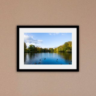 """Photo"" Berlin, Germany Autumn Lake View (excluding box / fare increase box)"
