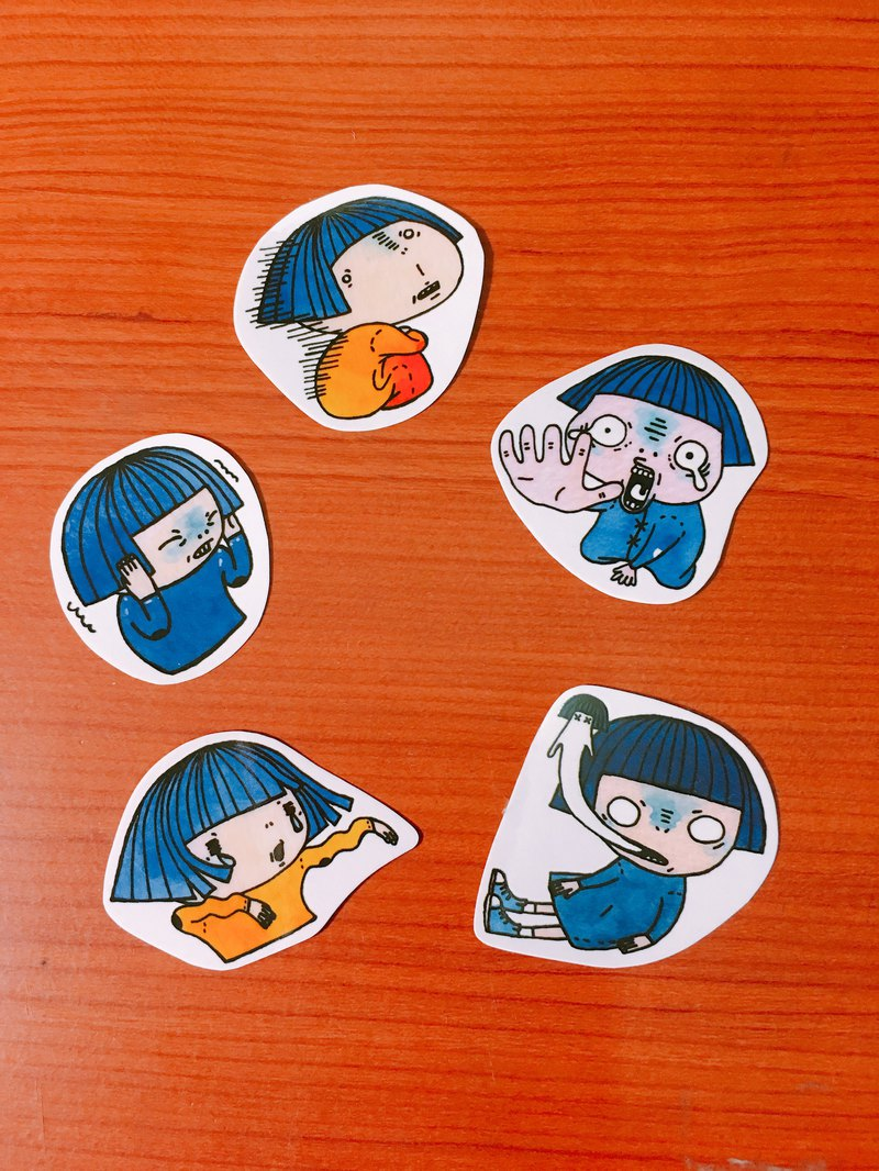 girl .   Funny  .  Transparent stickers