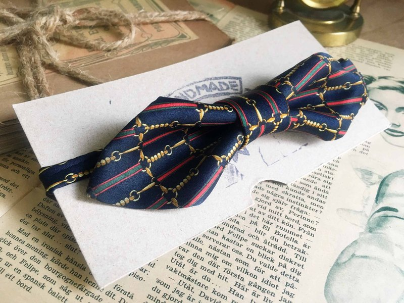 Papa's Bow Tie- restructuring antique handmade cloth flowers tie tie - Venus Venus-wide