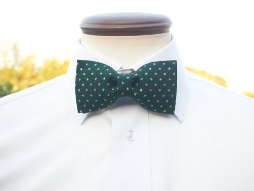 Starry bow tie TATAN Christmas Eve (green)