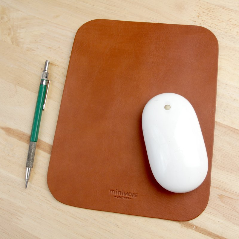 Leather Mouse Pad - Mouse Pad -Personalized Mouse Pad - Mouse Mat - Brown Tan