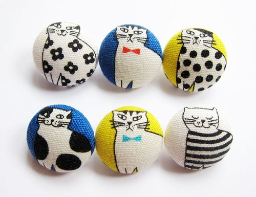 Cloth button sewing knitting hand-made materials suit cat