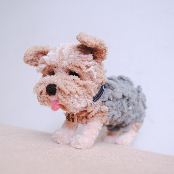 Pets avatar 13 ~ 15cm [feiwa Fei handmade baby doll pet Yorkshire] (welcome to build your dog)