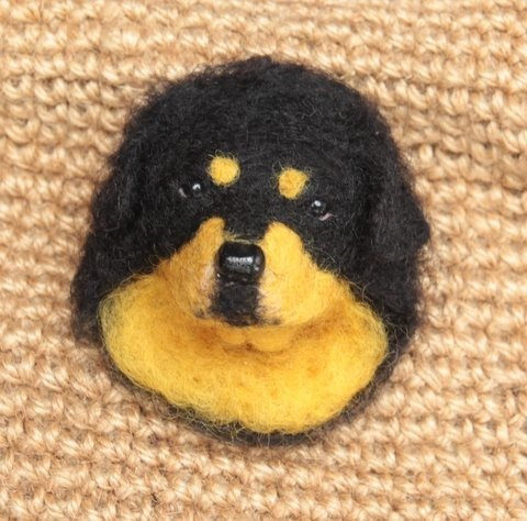 ~ Wool felt brooch series beast - Tibet Mastiff