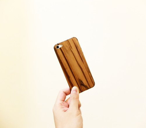 100% Wooden Skin for iPhone 5 / 5s 0.4mm natural veneer protective shell stickers