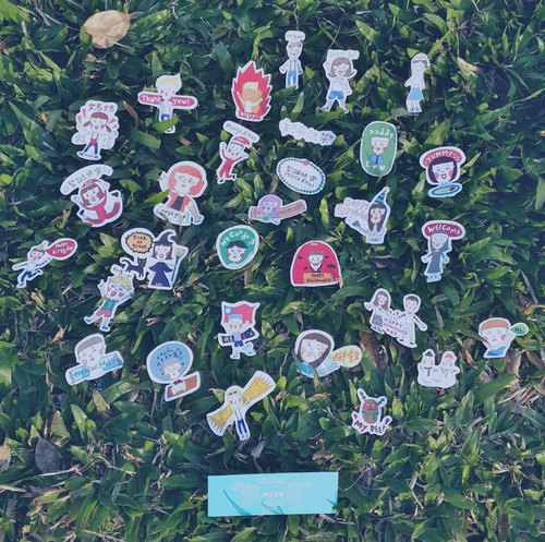 : Secretly tell you: Stickers (10 groups)