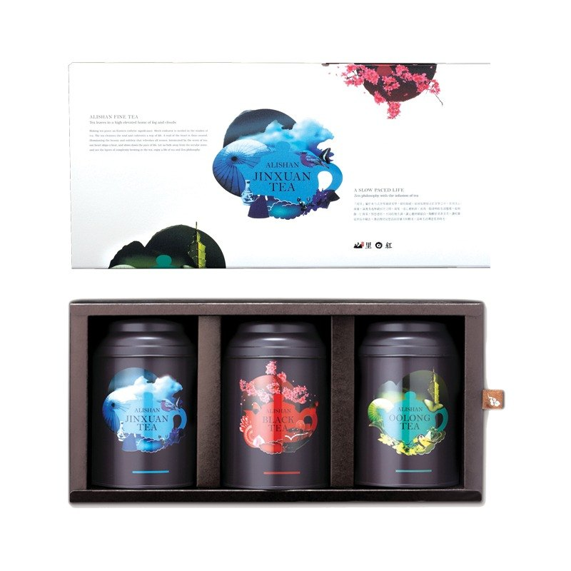 [Red] Taiwan's mountains, the new King Day gift - Oolong, Jin Xuan, tea pot into 3