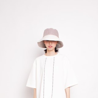 JOJA │ red and white strip x linen sun hat spot / custom