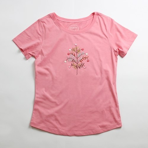 Cotton hand-made exquisite T-shirt female models (family) - childlike Vienna tree