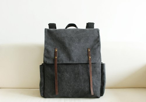 sobag original design of the new black and gray leather canvas backpack canvas backpack bag men and women