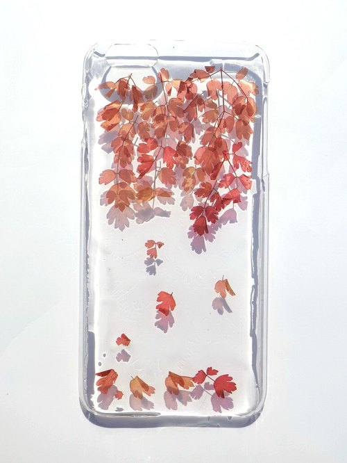 Handmade phone case, Pressed flowers phone case, Fall