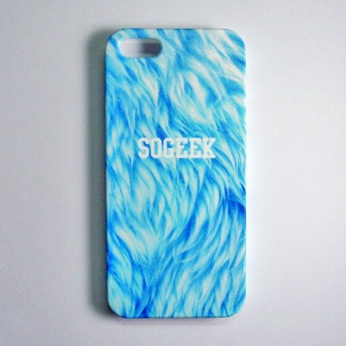 SO GEEK phone shell design brand THE FURRY MONSTER GEEK strange blue hair models
