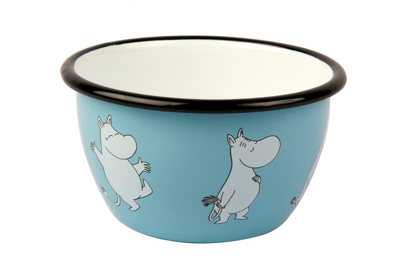 Finnish Moomin Moomin enamel bowl 6dl (blue) Valentine's Day gift birthday gift exchange