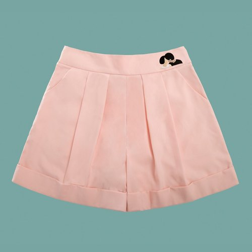 MSKOOK skirts wide leg pants - Pink
