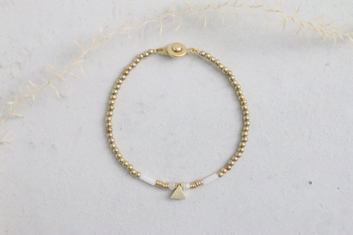 <☞ HAND IN HAND ☜> Moonstone - synonymous Bracelet (0696)