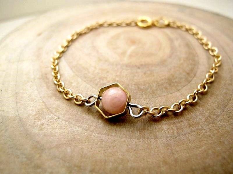 October Planet October Scorpio Constellation Planet Brass Gold Plated Bracelet