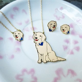 Golden Retriever Handmade Long Necklace