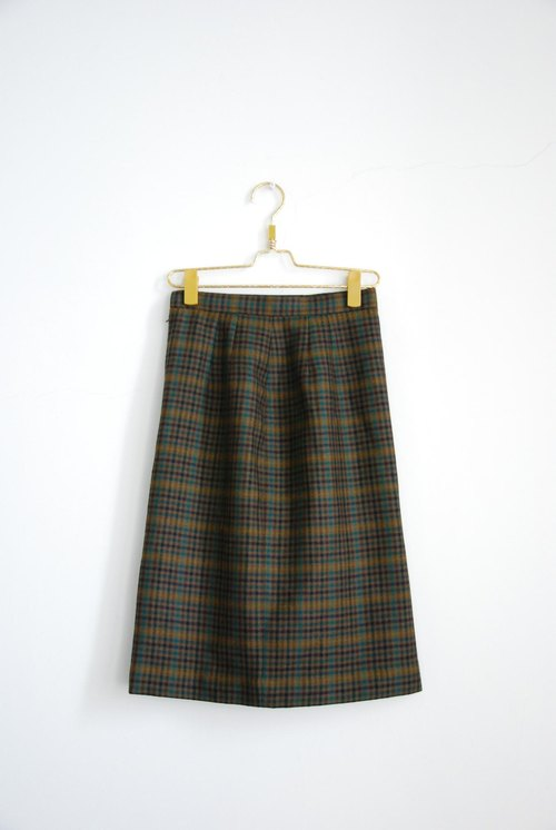 Plaid wool vintage dress