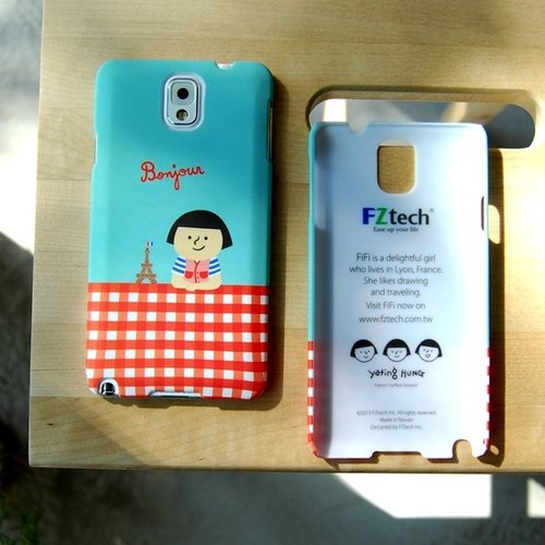FiFi city travel series Samsung Note3 protective shell (red tablecloths paragraph)