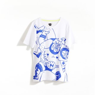 [Tofu] Noddlefu satisfied both wrestling Tee (white)