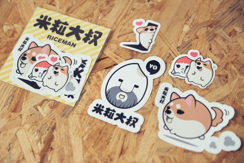 Riceman sticker