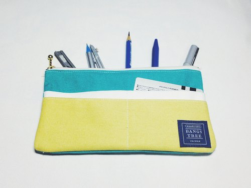 ::Bangstree:: Multifunctional Pencil case-tiffany green+white+light yellow