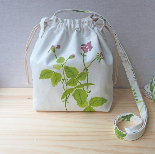 "howslife day spring plant series - shoulder / oblique bag ""my day spring"" beam mouth package"