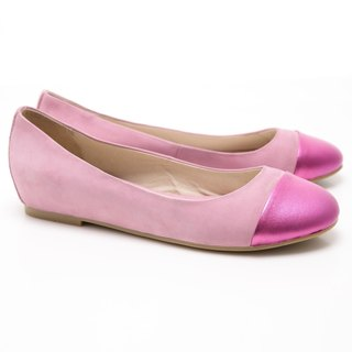 [Saint Landry] LAND metal stitching design Ballet shoes (pink)