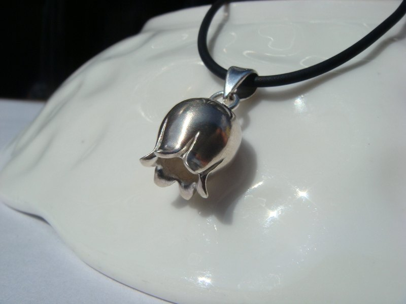 Unique models. Cute Little lily of the valley. Silver Necklace