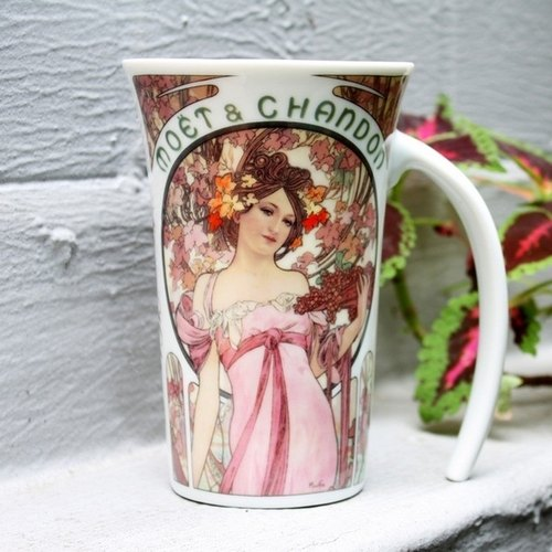 TAISO artist Mucha - Champagne Goddess Art curve Cup