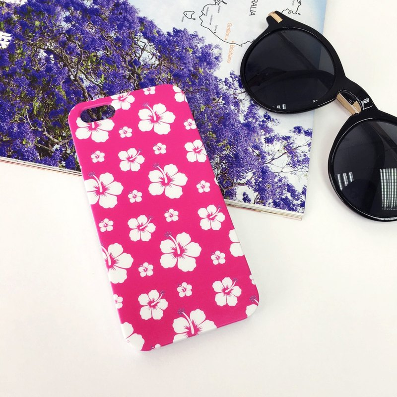 Pink Aloha Pattern Print Soft / Hard Case for iPhone X,  iPhone 8,  iPhone 8 Plus,  iPhone 7 case, iPhone 7 Plus case, iPhone 6/6S, iPhone 6/6S Plus, Samsung Galaxy Note 7 case, Note 5 case, S7 Edge case, S7 case