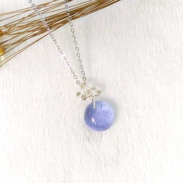 Sweet Candy Candy Glass Necklace - Violet