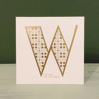 Bronzing letter card envelope sticker set -W