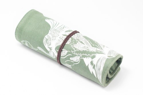 / Valentine's Day Gift/Feel Scroll/Spring Roll Pencil Case - Pen's Green House (Indian Elephant)