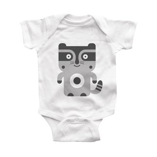 Modern moose-raccoon-infant-bodysuit