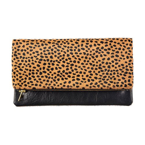 [Status Anxiety] GWYNETH clutch / side backpack _Black / Cheetah (black / cheetah)