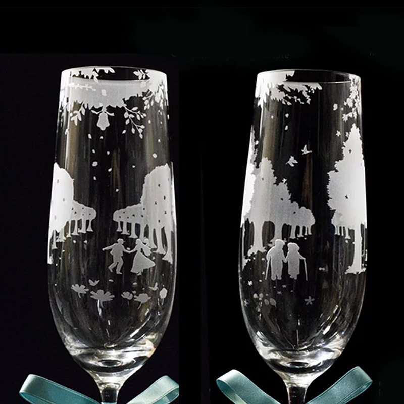 Purity of Love Crystal champagne flutes  wedding anniv. christmas gift engrave