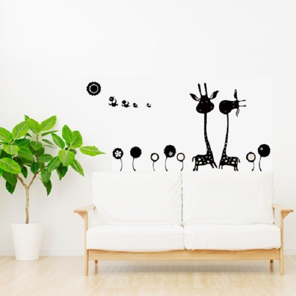 """Smart Design"" Creative ◆ Seamless wall stickers Giraffe"
