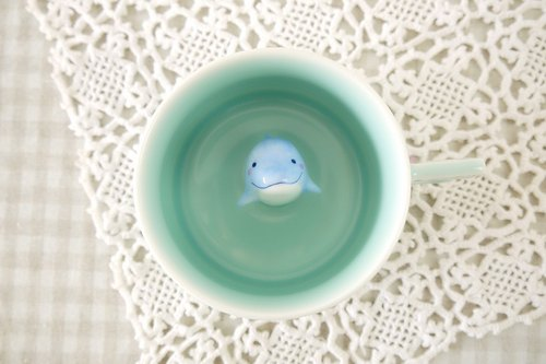 Three shallow Pottery | Dolphins Mug (three-piece) Creative Gifts