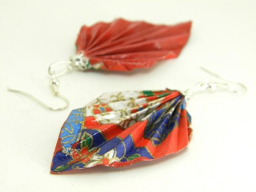 Earrings origami (Y18BOF4CAr)