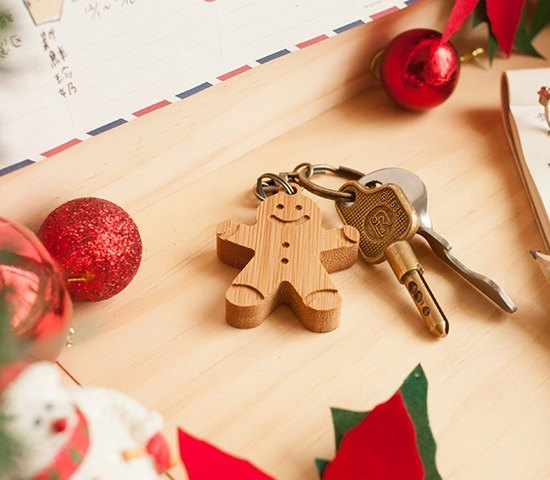 [Christmas Gift] Sweetheart Gingerbread Man / Keyring Handmade for Merry Christmas