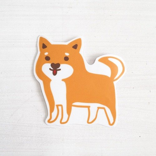 Funny stickers everywhere waterproof stickers - Shiba dog