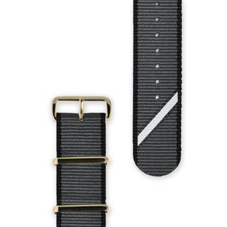 HYPERGRAND Military Strap - 20mm - Grey Twill (Gold Button)