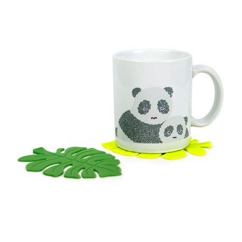 [DESTINO STYLE] Japan fresh leaves shape silicone coaster (3 in)