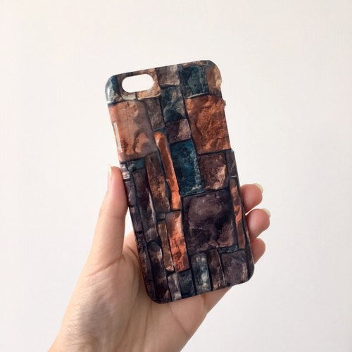 Brick wall rock stone 3D Full Wrap Phone Case, available for  iPhone 7, iPhone 7 Plus, iPhone 6s, iPhone 6s Plus, iPhone 5/5s, iPhone 5c, iPhone 4/4s, Samsung Galaxy S7, S7 Edge, S6 Edge Plus, S6, S6 Edge, S5 S4 S3  Samsung Galaxy Note 5, Note 4, Note 3,