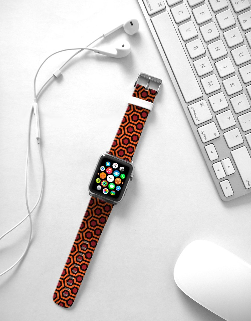 Apple Watch Series 1 , Series 2, Series 3 - Iconic Carpet Pattern Watch Strap Band for Apple Watch / Apple Watch Sport - 38 mm / 42 mm avilable