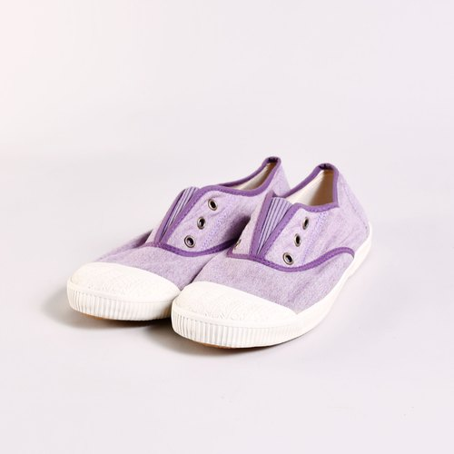 FREE Antiques purple exhibition shoes 5 fold Small spots in the insole (not moldy) Simple and comfortable / canvas shoes / lazy / casual shoes National casual shoes Taiwan good product Southgate Nangang gate