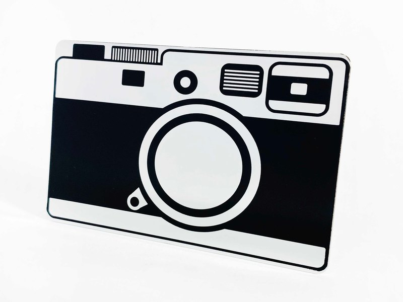 Mirror card │ retro machine series │ camera